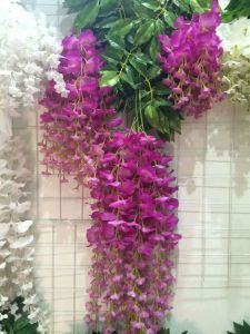 High Quality of Artificial Plants Natural Trunk with Flowers Westeria pictures & photos