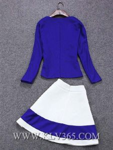 Fashion Design Women Half Sleeve Blouse and Skirt Sets Women Casual Skirt Suits pictures & photos