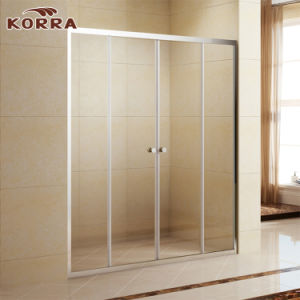 Tempered Glass Frame Shower Enclosure with Al Chrome Finish (K-333C) pictures & photos