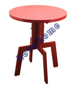 Modern Dining Restaurant Metal Leg Wooden Table pictures & photos