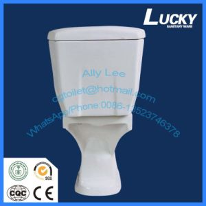 Economic Water Closet Wash Down Two Piece Ceramic Toilet pictures & photos