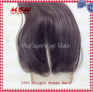 Straight Peruvian Virgin Human Hair Lace Closure pictures & photos