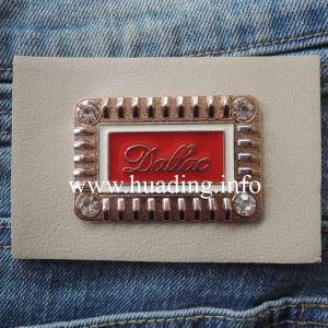 Jeas Leather Patch with Metal Plate (PA-03) pictures & photos