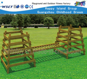 Wooden Training Equipment with Climbing Ladder and Balance Ladder Hf-17704 pictures & photos