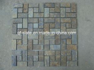 Multicolor Slate Mosaic for Natural Stone Wall Building Materials (M-XZS0413)