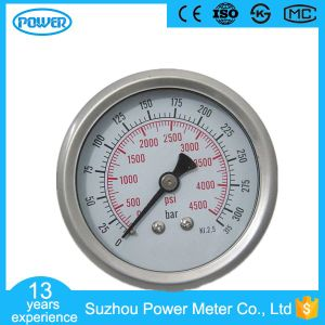 60mm Back Type High Quality Stainless Steel Case Pressure Gauge pictures & photos