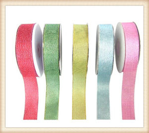 Christmas Use Metallic Shining Packing Ribbon (PS62002) pictures & photos