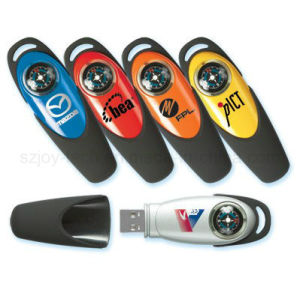 High Quality Promotional Compass USB Flash Disks with Logo Printing pictures & photos