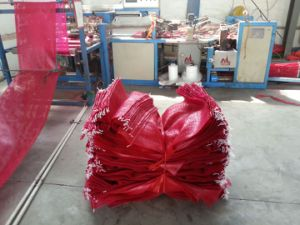 PE Plastic Recycled Round Mesh Bags for Packaging Onions
