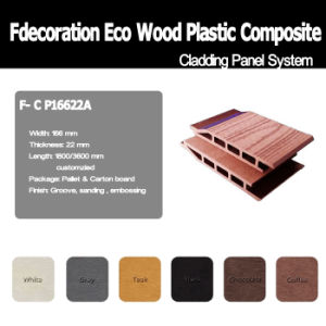 100% Recycled WPC Material Composite Wood WPC Wall Panel