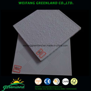 Vinyl Laminated Gypsum Tile/PVC Laminated Gypsum Panels/Vinyl Laminated Gypsum Ceiling Panels, 595X595mm pictures & photos