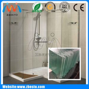 1500mm Large Customized Toughened Laminated Bathroom Shower Enclosure Screen Glass