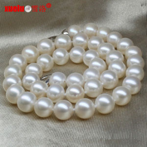 12-14mm Large Natural Round Freshwater Pearls Necklace Jewelry pictures & photos