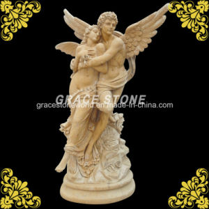 Natural Yellow Marble Lovers Sculpture pictures & photos