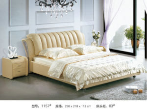 Modern Leather Bed, Australia Bed, China Bed (1157) pictures & photos