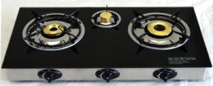 Gas Stove Glass Table Top with 3 Burners