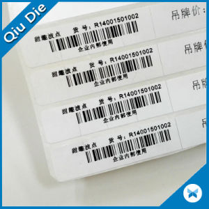 Glossy Coated Paper Label Barcode Print Sticker for Garment/Home Textile pictures & photos