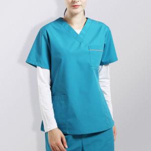 Nurse Scrubs Tops Fashion Design Hospital Uniforms pictures & photos