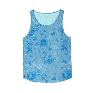 Men′s 100% Cotton Jersey Floral Print Tank Top