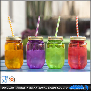 New Design Glass Bottle Beverage Bottle with Handle pictures & photos