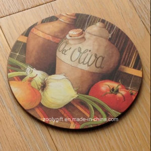 Set of 6 High Quality Round Cork Cup Coasters pictures & photos