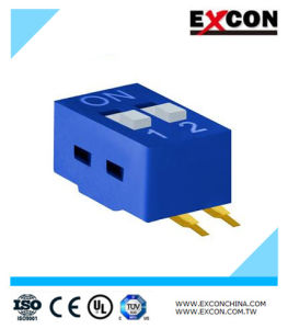 Electric Push DIP Switch Excon Ra-02-B Two Position Switch pictures & photos