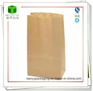 Brown Kraft Paper Bag/Square Bottom Bag/Grocery Bag pictures & photos
