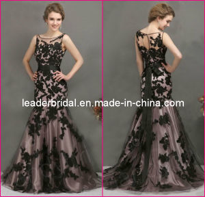 Maroon Prom Gowns Black Lace Bridesmaid Evening Dresses E237 pictures & photos