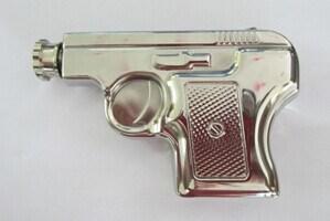 Amazon Vendor Pistole Shape 6oz Hip Flask Silver Color pictures & photos