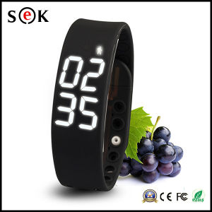 Calorie Sleep Temperature Healthy Silicone Wrist Wearable Smart Watch pictures & photos