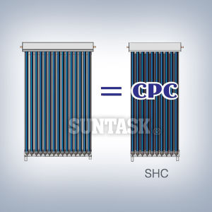 CPC Heat Pipe Solar Collector with Solar Keymark Certificate (SHC) pictures & photos