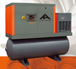 High Quality/ Advanced Screw Air Compressor with Tank and Dryer pictures & photos