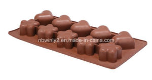 Silicone Chocolate Mold Heart & Flower Design pictures & photos