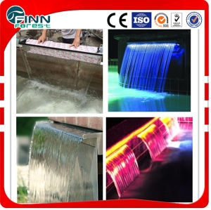 Stainless Steel Swimming Pool Wall Fountain with LED Light pictures & photos