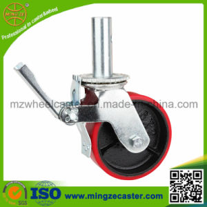 Scaffolding Caster with PU Wheels, Total Brake Lock Type pictures & photos