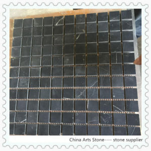 Black Marquina Marble Stone Mosaic Tile pictures & photos