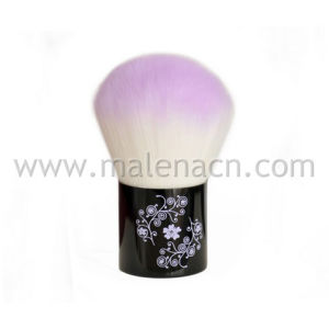 High Quality Kabuki Makeup Brush with Flower Pattern pictures & photos