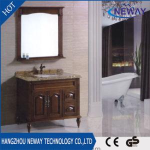 Antique Floor Bath Cabinet Solid Wood Bathroom Vanity pictures & photos
