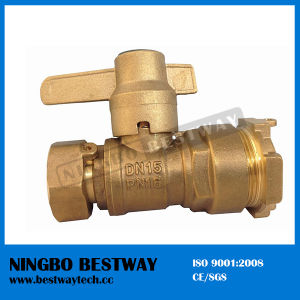 Brass Water Meter Magnetic Lockable Ball Valve (BW-L18) pictures & photos