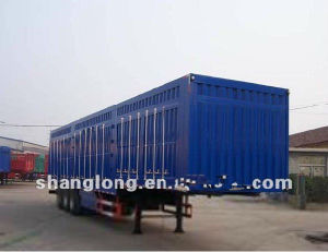 3 Axle 40ton Van Semi Trailer, Cargo Box Trailer Made in China pictures & photos