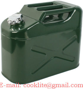 Steel Army Petrol Fuel Tank Vertical Jeep Gas Can Green 10 Litre pictures & photos