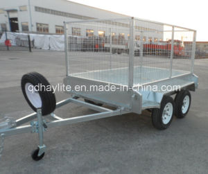 Tandem Cage Car Loader Trailer pictures & photos