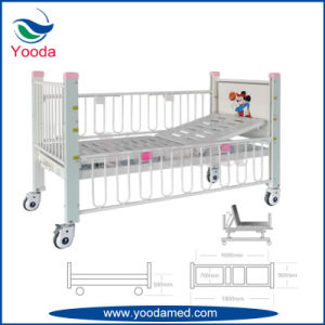 Full Side Rail Three Functions Manual Hospital Children Bed pictures & photos