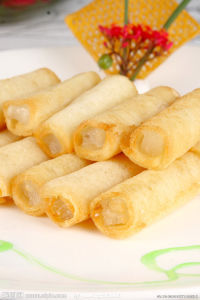 IQF Frozen 100% Hand Made Vegetable 20g/piece Cylinder Spring Rolls pictures & photos