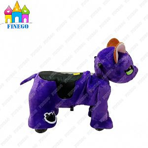 Coin Operated Battery Indoor Playground Fox Walking Animal Scooter pictures & photos