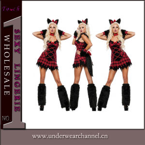Fancy Dress Adult Sexy Halloween Party Wolf Mascot Costume (TDD80778) pictures & photos
