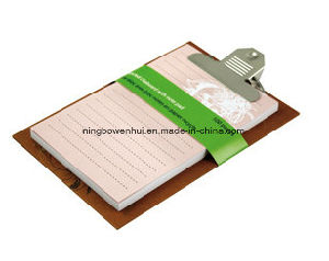 High Quality Printed Kraft Cover Clipboard Notepad pictures & photos