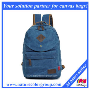 Unisex Vintage Casual School Sports Bag Rucksack Canvas Backpack (SBB-047) pictures & photos