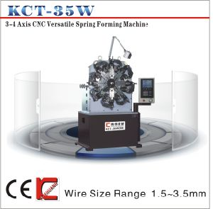 Kct-35W 1.2mm-4.0mm CNC Versatile Spring Forming Machine& Torsion/ Tension Spring Machine pictures & photos