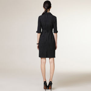 Classic Slim Fit Style Strip Formal Ladies Designs Office Dress pictures & photos